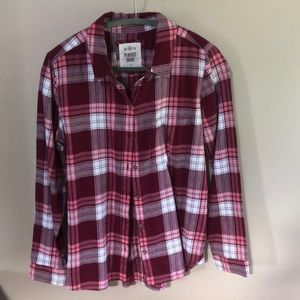 Soft casual flannel style button down shirt